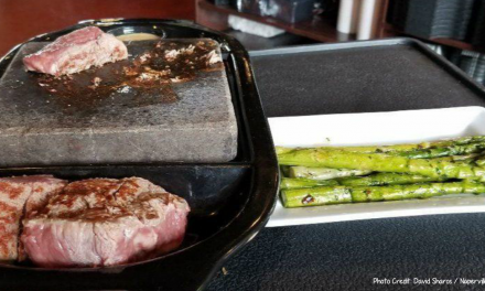 Chef's Choice: New concept lets customers cook steaks on a lava rock — and sample myriad sauces and sides