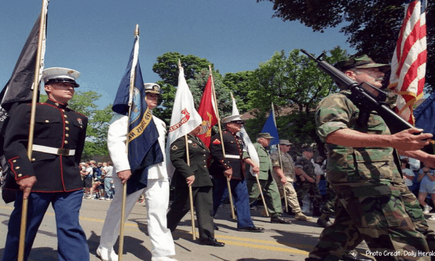 Parade, prayers and flag raising in Naperville